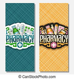 Vector vertical banners for Pharmacy