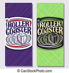 Vector vertical banners for Roller Coaster
