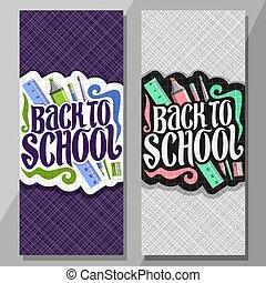Vector vertical banners for School