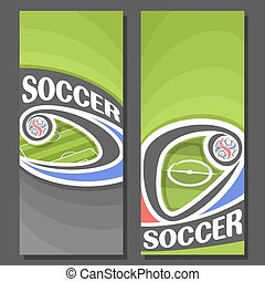 Vector vertical Banners for Soccer