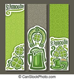 Vector vertical Banners for St. Patrick's Day
