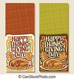 Vector vertical banners for Thanksgiving day