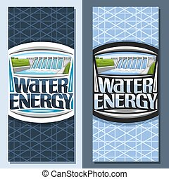 Vector vertical banners for Water Energy