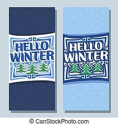 Vector vertical banners for Winter season