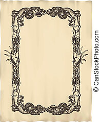 Vector vertical vintage frame