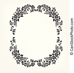 vector victorian baroque design elements flower rose flame circle ellipce