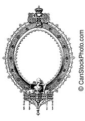 Vector Victorian Fancy Oval Frame