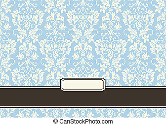 Vector Victorian Frames and Background. Easy to edit....