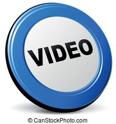 Vector video 3d icon