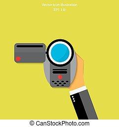 Vector video camera icon
