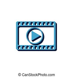 Vector video icon isometric. 3d sign isolated on white background.