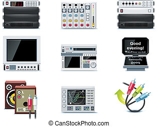 Vector video icons. P.3 - Set of the video editing related...