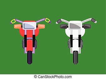vector, viejo, motos, formado
