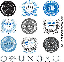 Vector Vintage Badge Set - Easy to edit! Vector vintage ...