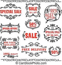 Vector vintage badges for sale