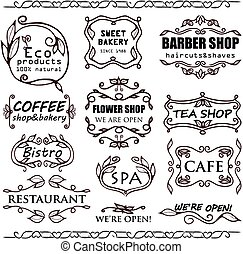 Vector vintage badges for shops