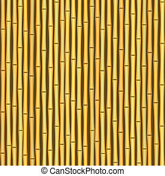 vintage bamboo wall seamless texture background - vector...