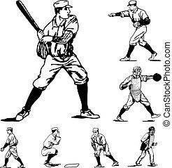 Vector Vintage Baseball Icons
