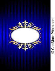 Vector vintage blue background