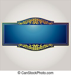 vintage border frame engraving with
