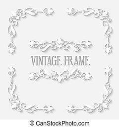 Vector Vintage Border White Frame - Frame vector vintage...