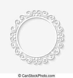 Vector vintage border white frame - Vector vintage circle...