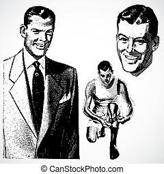 Vector Vintage Businessmen