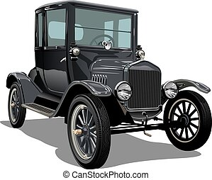 Vector vintage car. Available EPS-10 vector format separated...