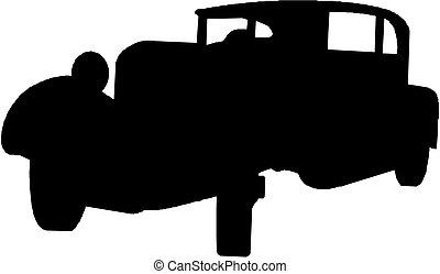 Vector vintage car silhouette