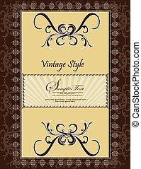 Vector vintage card design