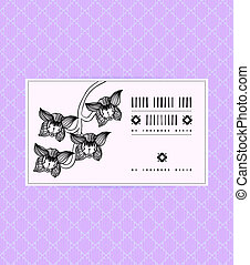 Vector vintage card with orchid flower