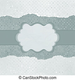 Vector vintage card with polka dots. EPS 8
