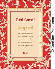 vintage card with white corals