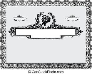 Vector Vintage Certificate Border - Detailed vector...