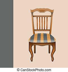 Vector vintage chair handmade retro design eps