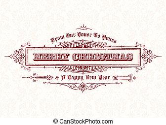 Vector Vintage Christmas Frame