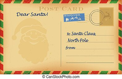 santa letter background template