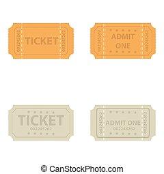 Vector  vintage cinema tickets.