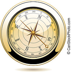vintage compass - vector vintage compass