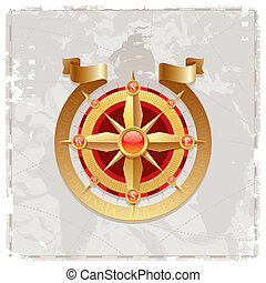 Vector vintage compass rose