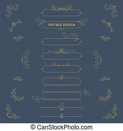 Vector vintage decorative design elements and frames