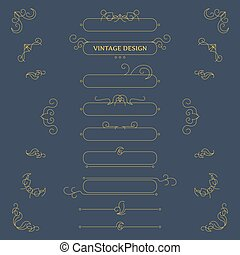 Vector vintage decorative design elements and frames
