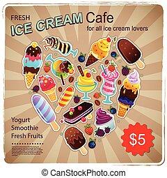 Vintage Dessert illustration for your business