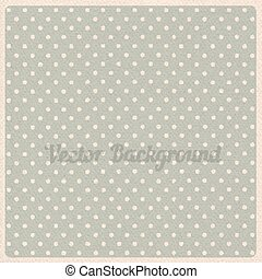 Vector vintage dotted background with realistic cardboard...