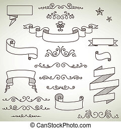 Vector Vintage Elements - Vector Illustration of Decorative...