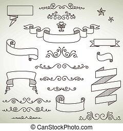 Vector Vintage Elements - Vector Illustration of Decorative...
