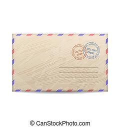 Vector vintage envelope