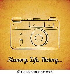 Vector vintage film photocamera