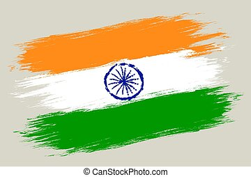 Vector vintage flag of India