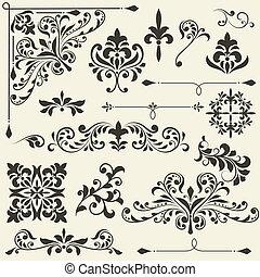 vector  vintage floral  design elements